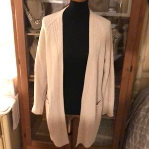 RD Style Stitch Fix tan cardigan w/ elbow patches